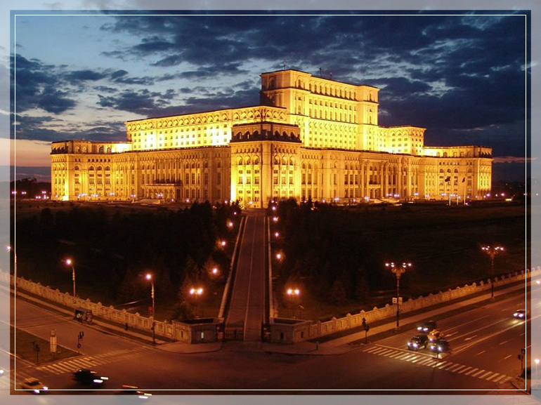 Parliament palace in bucharest romania